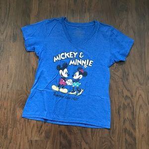 Mickey and Minnie V-neck